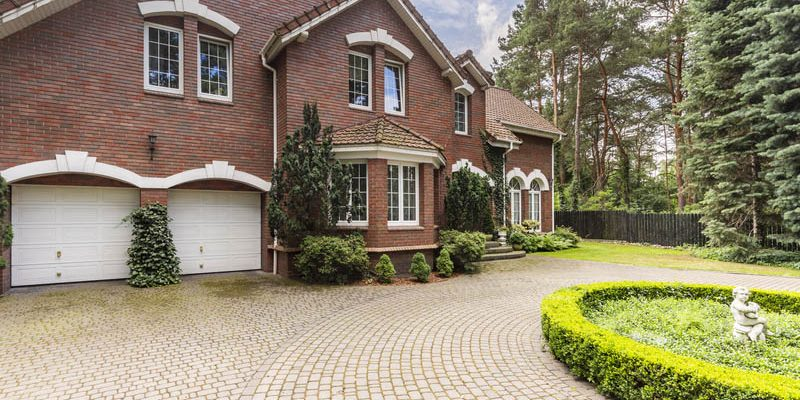 luxury large house with paving driveway