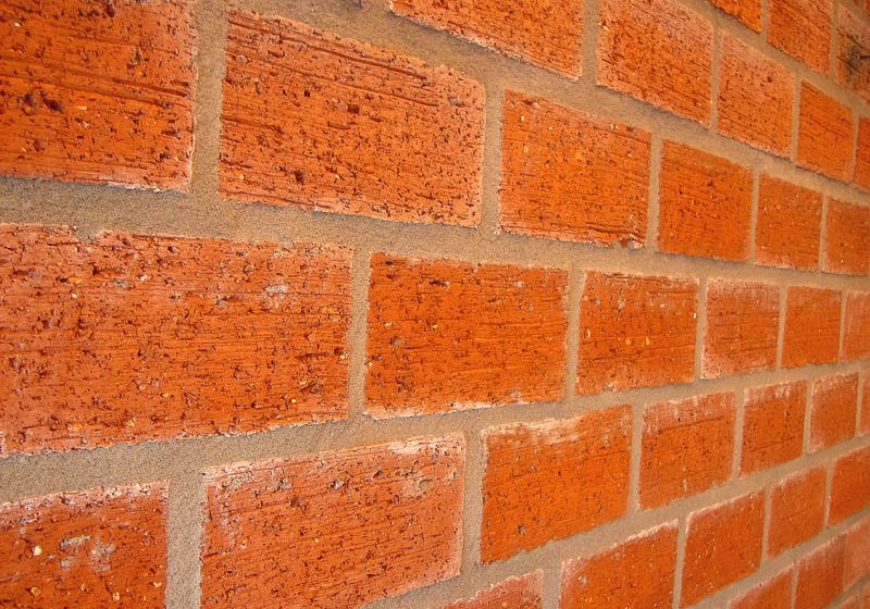new red brick wall